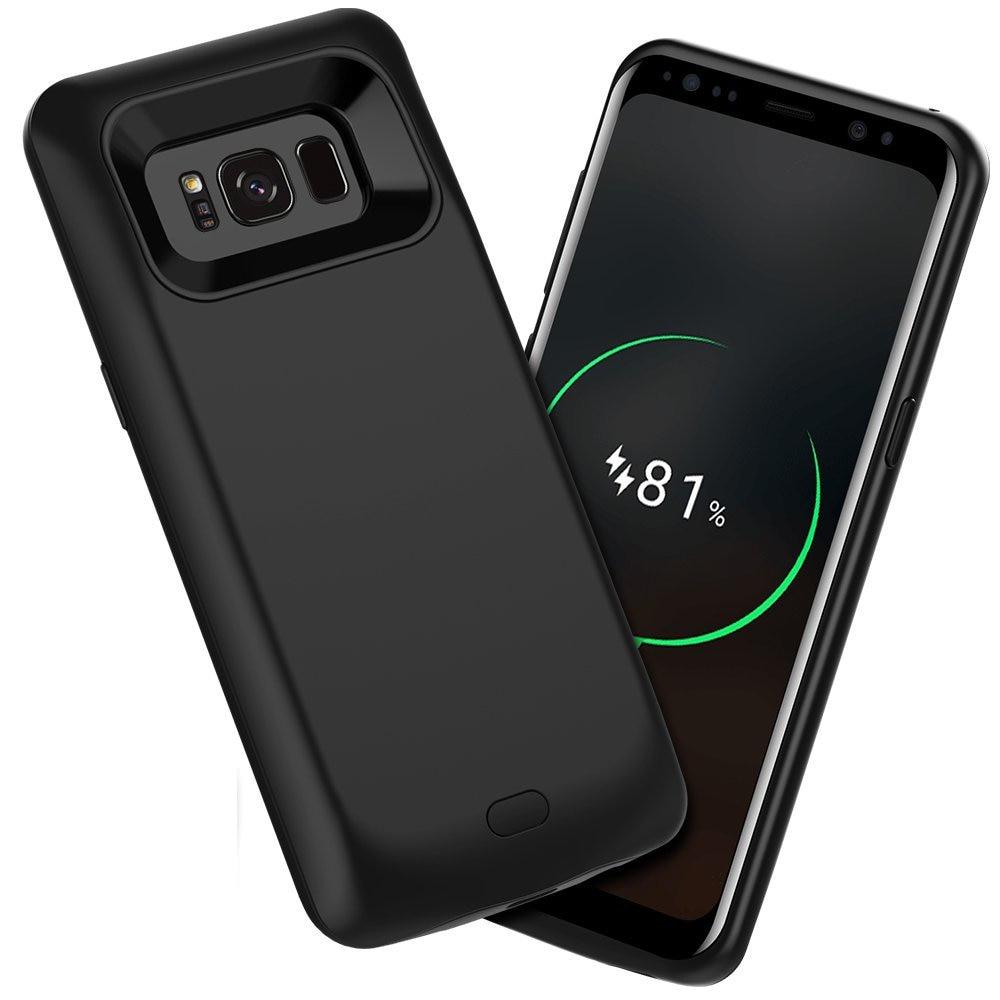 bilder für Externes Ladegerät Fall Abdeckung 5000 mAh für Samsung galaxy S8 S8 Plus Batterie-kasten Power Bank Red