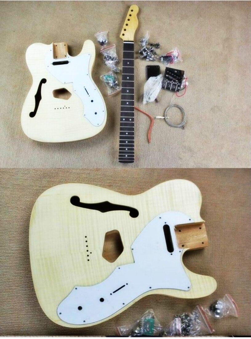 2018 nouveau kit de bricolage populaire GYTL Set guitare électrique acajou corps érable cou palissandre touche avec accessoires livraison gratuite