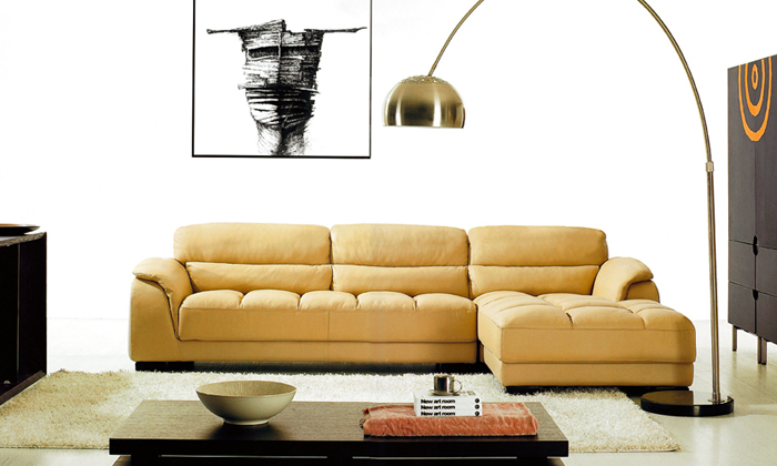 Compare prices on l shape leather sofa online shopping for Sofas con shenlong