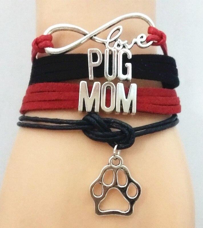 HTB1Yte1LVXXXXazXFXXq6xXFXXXq - Pug Mom bracelet - love