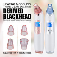 Ice Cool Pore Cleaner Vacuum Suction Blackhead Remover Acne Pimple Removal Electric Face Skin Tightening Machine Househouse Use