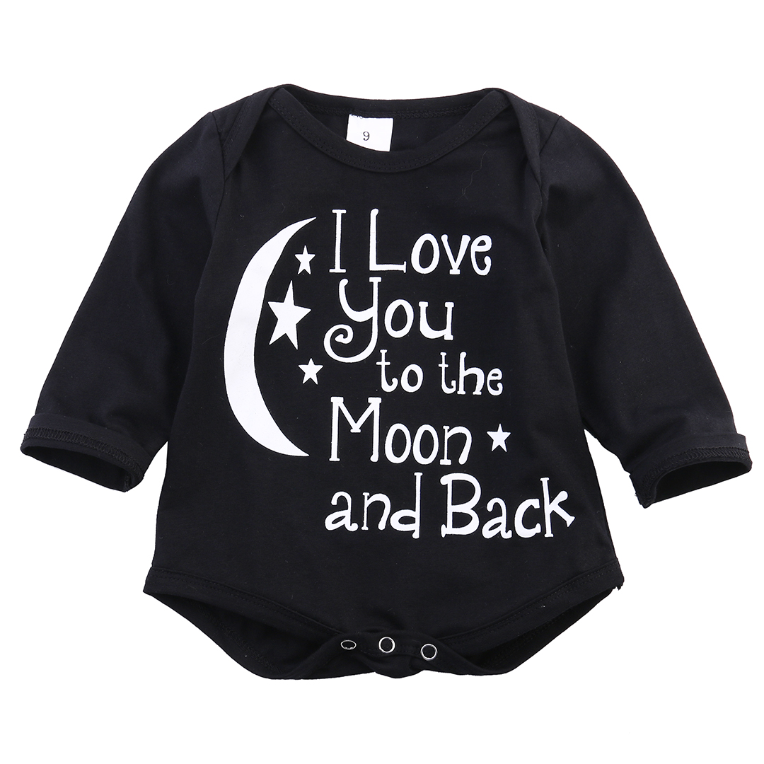 2016 Fashion  Cute Baby Boys Bodysuit Long/Short Sleeve Letter Print Jumpsuit Outfits Clothes