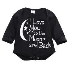 2016 Fashion  Cute Baby Boys Bodysuit Long/Short Sleeve Letter Print Jumpsuit Outfits Clothes