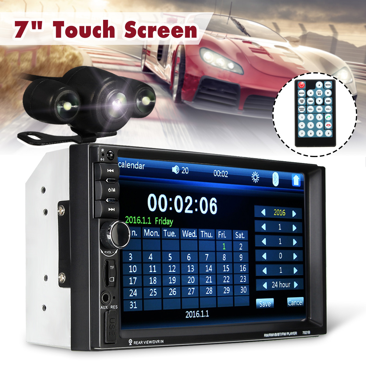 7inch Car Radio bluetooth V2.0 Car Stereo HD Touch-Screen MP5 Player SD MMC USB FM MP3/MP4 Hands-free Call Remote Control7inch Car Radio bluetooth V2.0 Car Stereo HD Touch-Screen MP5 Player SD MMC USB FM MP3/MP4 Hands-free Call Remote Control