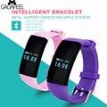 Smart watch dos homens das mulheres pulseira da moda pulseira de fitness rastreador atividade para ios android monitor de freqüência cardíaca pedômetro
