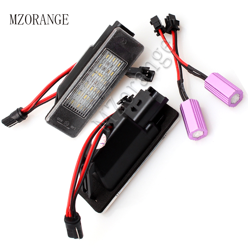 MZORANGE Car LED License Plate Light Number Plate font b Lamp b font For Nissan Qashqai