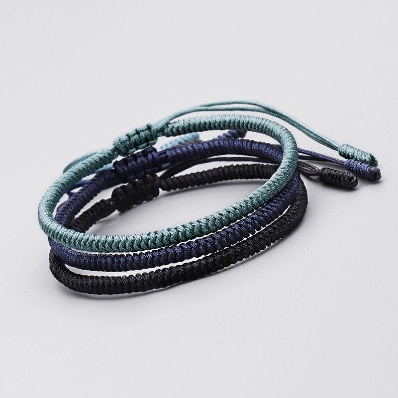 Tibetan Buddhist Braided Lucky Knots Rope Bracelet Handmade Bracelet For Women Men Size Adjustable Jewelry 2211