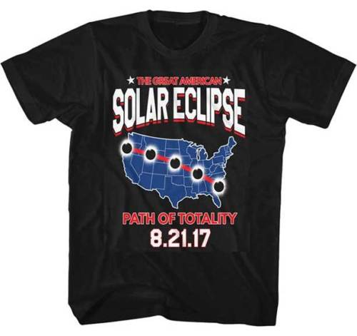 2017 The Great American Total Eclipse Path Of Totality 8/21/17 Adult T Shirt Comfortable top tee