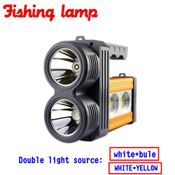 New arrival night fishing led lamp light flashlight charging built in lithium battery double light source.jpg 250x250