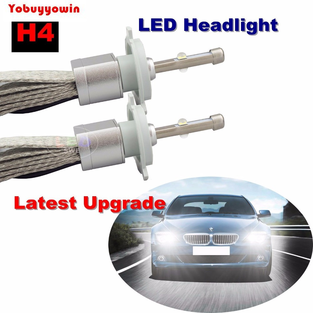 2PCS 80W 9600LM H4 CREE XHP-50 Chip Car LED Headlight Conversion Kit High/Low Beam Bulbs 6000K Xenon White Lamp H1 H3 H7 H8 H11