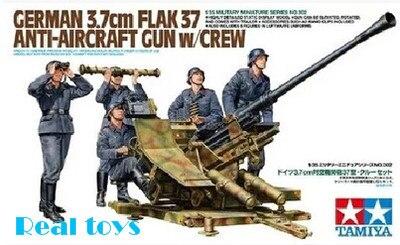 ФОТО Tamiya model 35302 1/35 WWII German Flak 37 Anti Aircraft Gun Crew