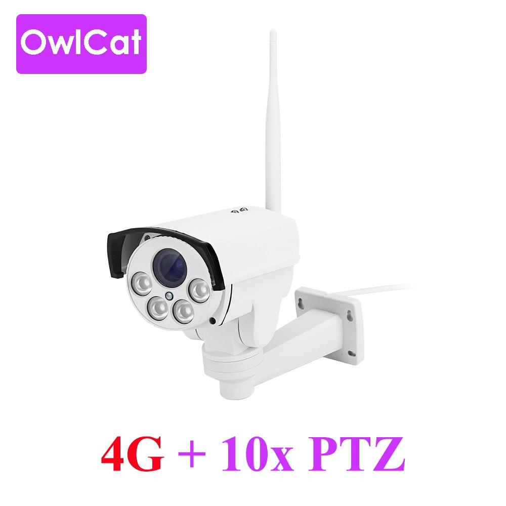OwlCat 3G 4G SIM Card IP Camera WiFi SONY323 10x Optical Zoom PTZ CCTV Camera HD 1080P MIFI with Memory SD CardOwlCat 3G 4G SIM Card IP Camera WiFi SONY323 10x Optical Zoom PTZ CCTV Camera HD 1080P MIFI with Memory SD Card