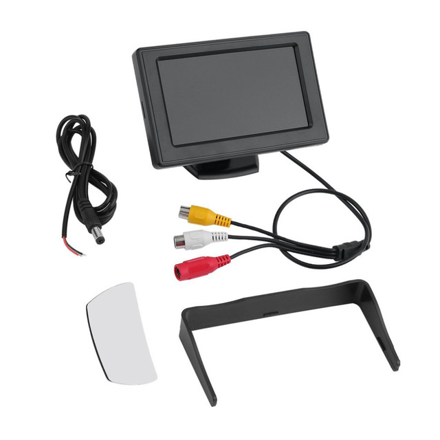 4,3 pulgadas TFT LCD retrovisor coche monitores para DVD GPS reverso Backup Cámara vehículo Accesorios Estilo clásico