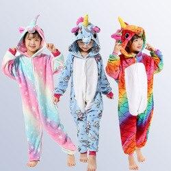 Unicorn Pajamas for Boys Girls 4 6 8 10 12 Years Animal Pegasus Unicorn Cosplay Kids Pijamas Onesies Winter  Children  Sleepwear