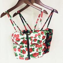 Mujer Sexy verano cremallera vintage floral acolchado tops cortos tipo corpiño sostén con cierre Top corto de fiesta Cami Bikini Tank Ami flor