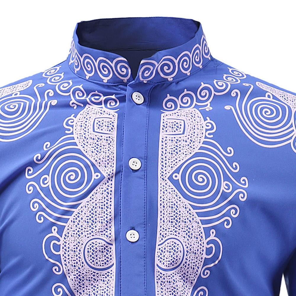 African Shirt Men Fashion Printed T Shirt Short Sleeve Casual Shirt Top Blouse