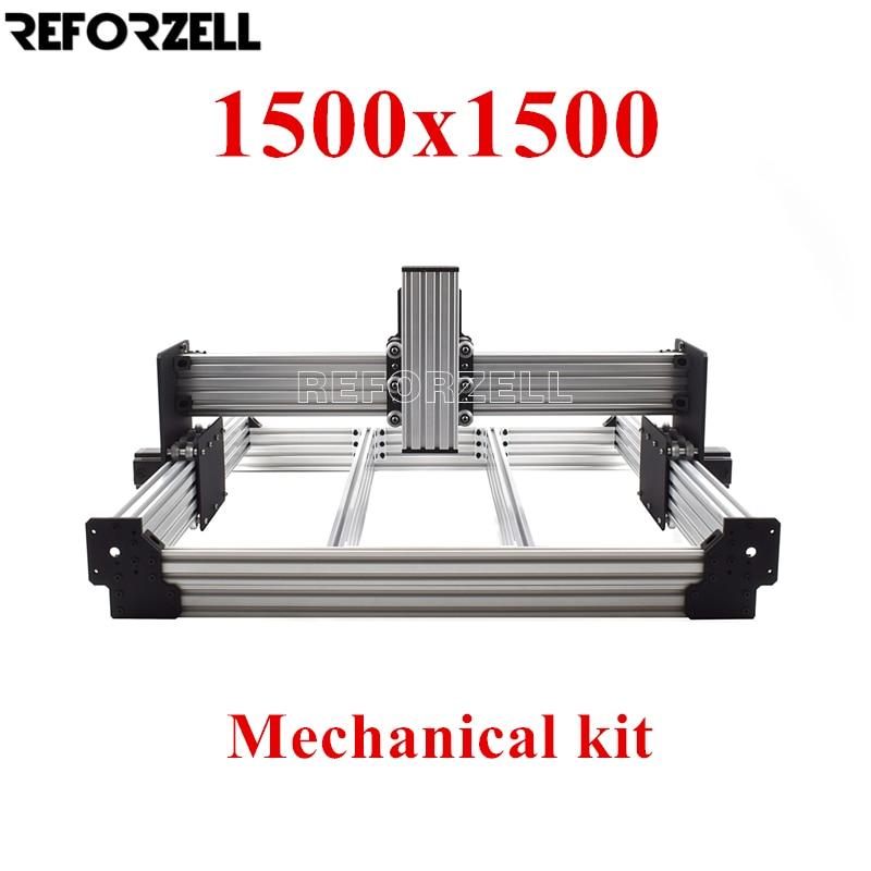 1500mm x 1500mm workbee cnc kit de fresagem cnc kit mecanico