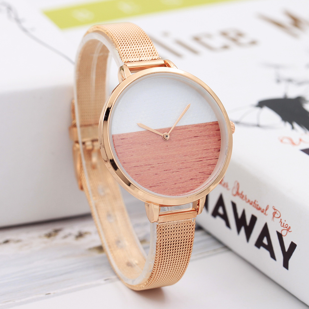 2018 Fashion Women Quartz Wrist Watch Stainless Steel Strap Rosefield Watches Relojes Mujer 2018 Half Color Dropshipping Clock