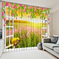 Luxury Blackout 3D Window Curtains High quality custom 3d curtain fabric window curtains