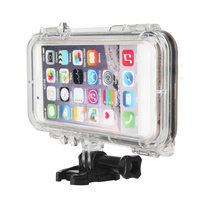 Extreme Sports Waterproof Case Cover With 170 Degrees Wide Angle Lens for iPhone 6 6s for GoPro accessories Bicycle adapter