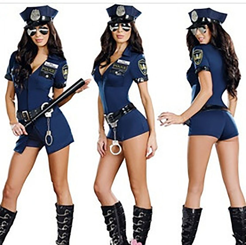 4PCs Sexy Costumes Halloween Cosplay Costumes Policewomen Uniform Fancy Outfit Rapid Assault Carnival Masquerade Day of The Dead