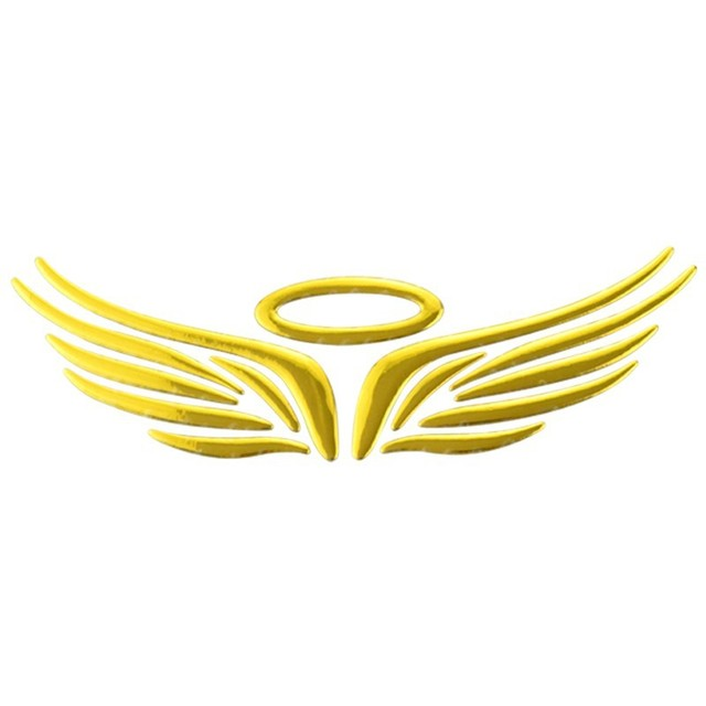 angel wings logo  Car Styling New 3D Angel Wings Style Demon Car Emblem Logo Paper 3D ...