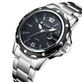 Neue SPAß BIDEN Top Marke Luxus Quarzuhr Männer Militär Sport Armbanduhr Stahlband Uhren Herren Business Uhr mit Datum  0012-in Quarz-Uhren aus Uhren bei