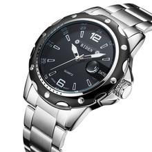 Новый biен лучший бренд класса люкс кварцевые часы для мужчин Военная Униформа спортивные наручные часы сталь ремень часы мужские деловые часы с датой-0012