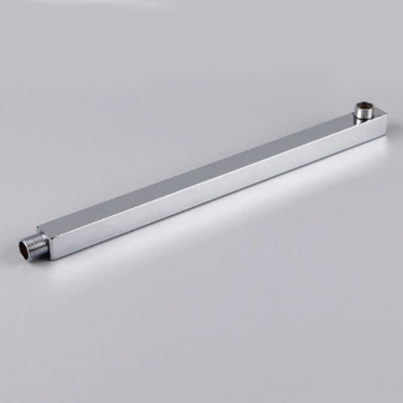 304-stainless-steel-pipe-square-shower-arm-40cm-shower-extension-arm-surface-wall-mounted-silver-shower-extension-arm-wholesale
