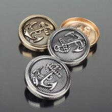 Metal Buttons for Clothing Coat Button Anchor Golden Retro Brass Suit Clothes Jeans 100 pcs/lot