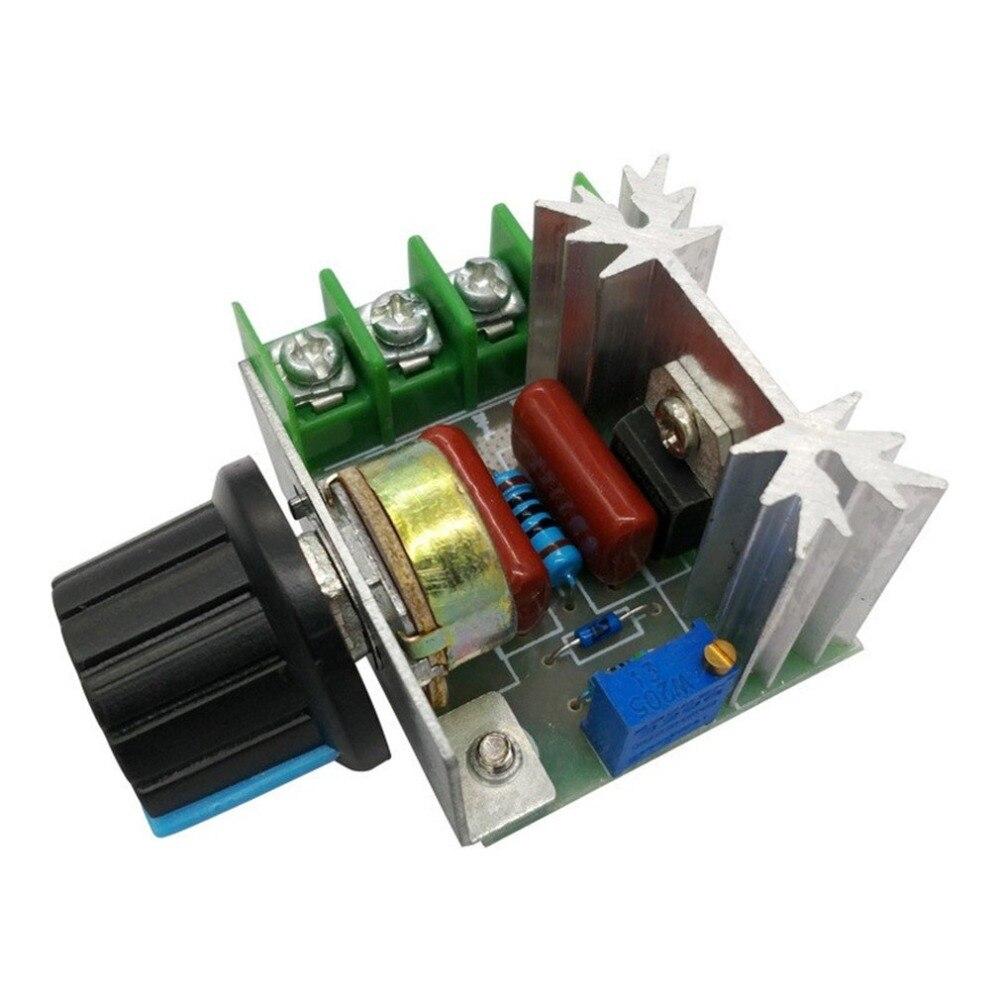2000 Вт SCR регулятор напряжения Диммеры Регулятор скорости двигателя термостат электронный регулятор напряжения модуль|Контроллер двигателя|   | АлиЭкспресс