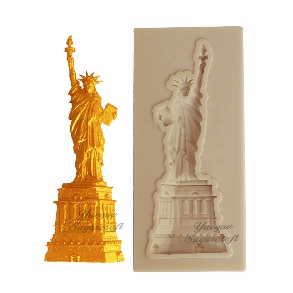Yueyue Sugarcraft Statue Of Liberty Silicone  Mold Fondant Mold Cake Decorating Tools Chocolate Gumpaste Mold