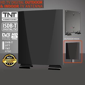 Image 1 - HD Antenna For Digital TV For DVB T2 ATSC ISDBT Outdoor TV Antenna High Gain Low Noise Antenna Amplifier Indoor TV Antenna