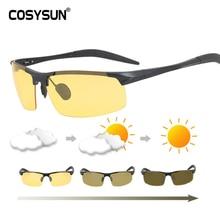 Mannen Zonnebril Dag Nacht Fotochrome Gepolariseerde Zonnebril Voor Drivers Mannelijke Veiligheid Rijden Bril All Weather Zonnebril Mannen