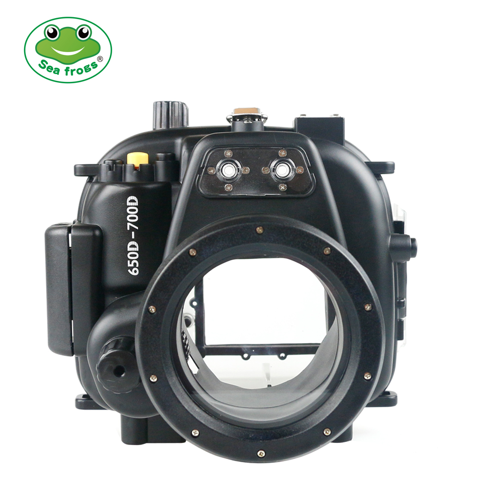 Underwater Sport Photography for Canon 650D 700D Camera 18 55mm Housing Scuba Dive 40m Depth Rating Impermable Case Water Cover in Sports Camcorder Cases from Consumer Electronics