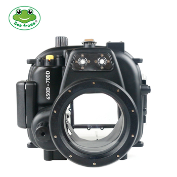 Underwater Sport Photography for Canon 650D 700D Camera 18-55mm Housing Scuba Dive 40m Depth Rating Impermable Case Water Cover
