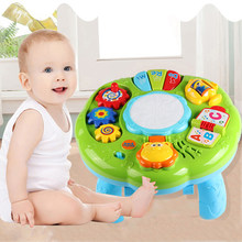Baby Electric Toys Musical Learning Table Kids Animal Farm Piano Educational Developmental Music Toys for Children Gifts(China)