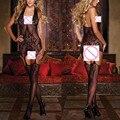 Сексуальное Женское Белье Женщин Платье В Сеточку С Вырезами Тела Чулок Боди Ночное Красоты Набор
