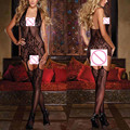 Lencería Sexy Vestido de Las Mujeres Mallas Crotchless Bodystocking Body Ropa de Dormir Belleza Establecidos