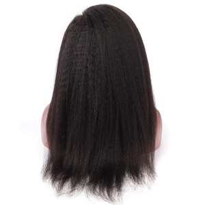 Image 3 - איבון קינקי ישר תחרה מול שיער טבעי פאות שיער ברזילאי לא מעובד שיער פאה טבעי צבע