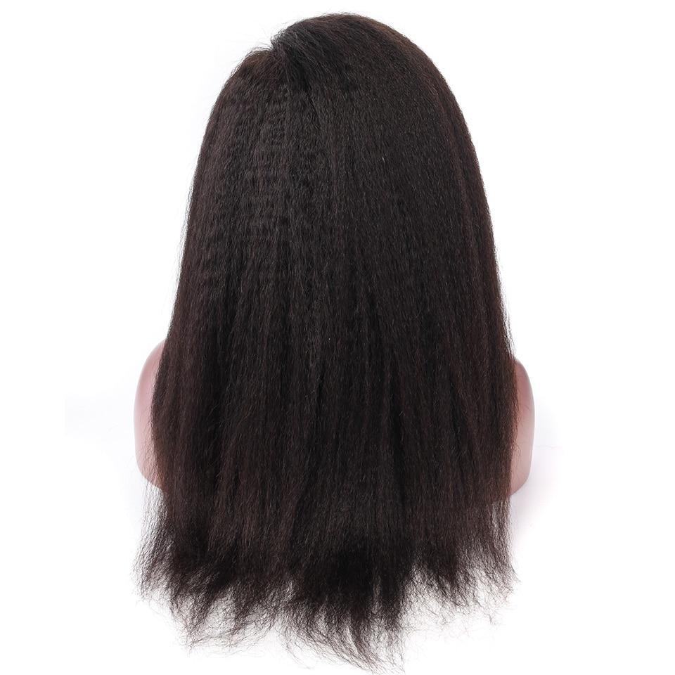 YVONNE Kinky Straight Lace Front Mänskliga Hårperor För Svarta - Mänskligt hår (svart) - Foto 4