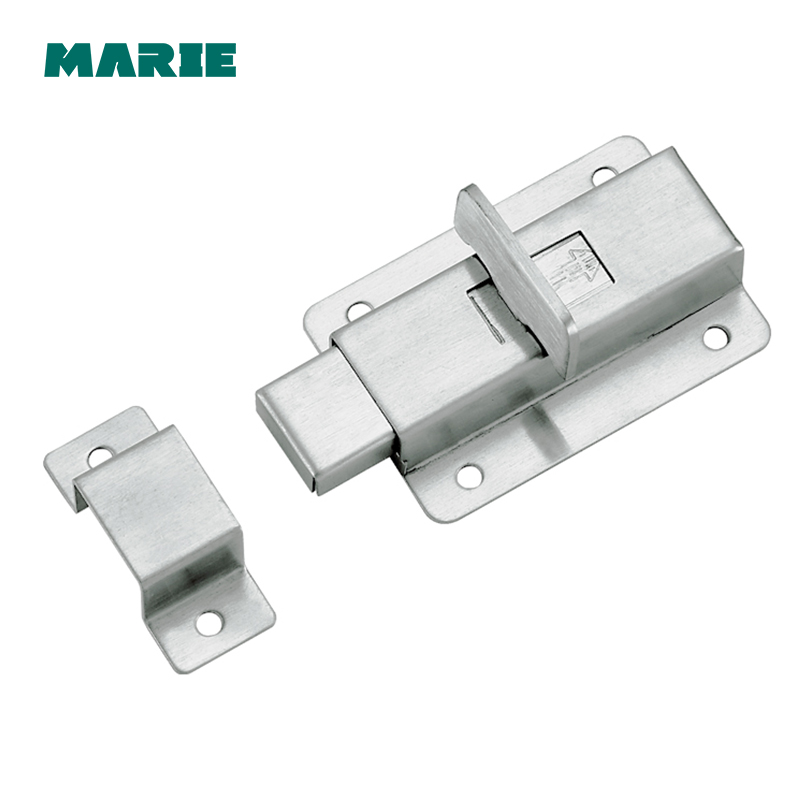 Silver Stainless Steel Door Latch Sliding Lock Barrel Bolt Latch Hasp Stapler Gate Safety Lock friends f12 stainless steel combination lock silver