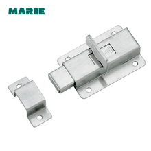 Silver Stainless Steel Door Latch Sliding Lock Barrel Bolt Latch Hasp Stapler Gate Safety Lock