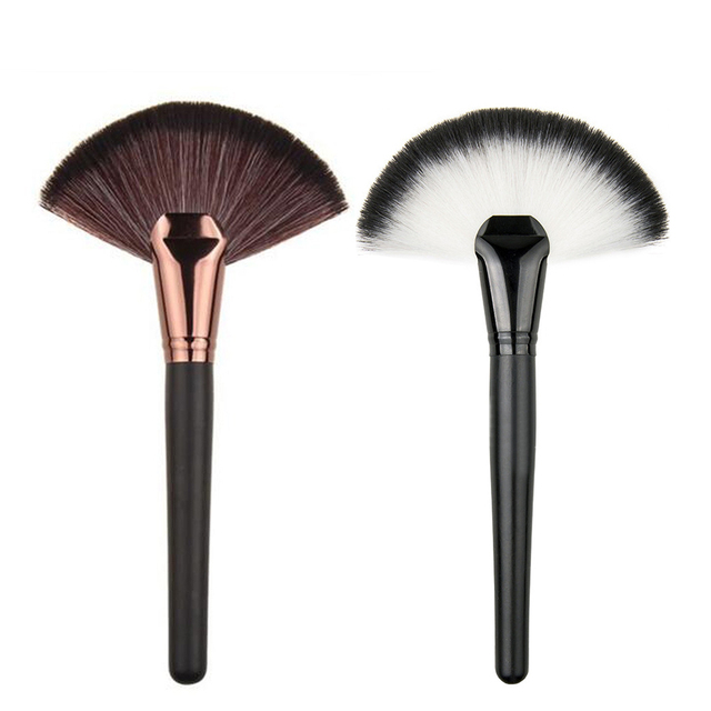 487c328b6a4f Clearance 1PC Large Fan Brushes Cosmetics Blush Power Foundation Brushes  Concealer Fan Shaped Brush Maquiagem Makeup Brush -in Eye Shadow Applicator  ...