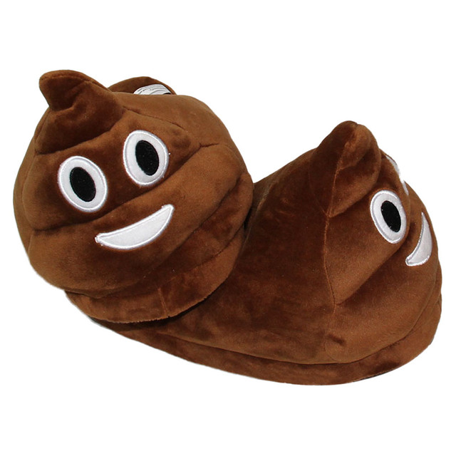 Poop Emoji Slippers 1