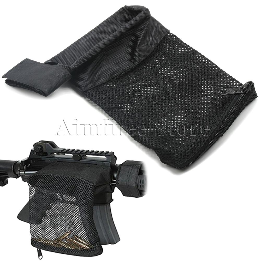 Tactical Nylon Ar-15 Ammo Brass Shell Catcher Mesh Trap Zippered Closure Bag Black. 223 / 5.56 Hunting Accessories