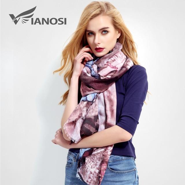 Vianosi  nouvelle conception femmes écharpe marque de luxe foulard femme  de mode bandana imprimer 6c66f96787c