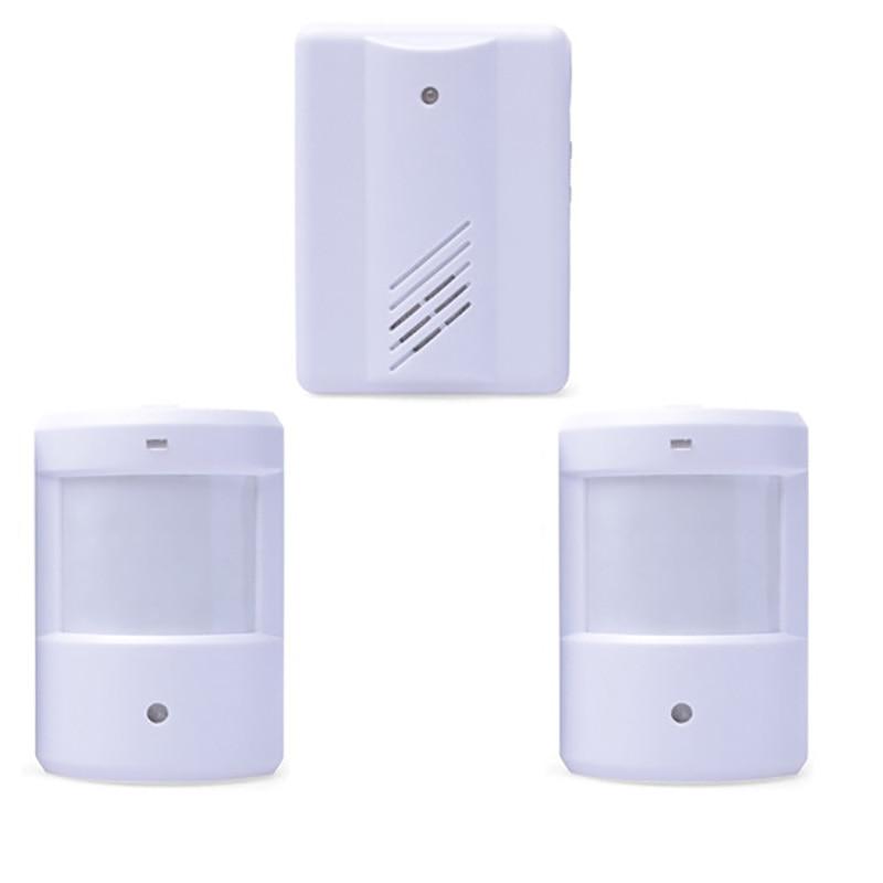 wirless infrared alarm Door Bell Driveway Patrol Garage System Motion Sensor 2 transmitter with 1 Receiver
