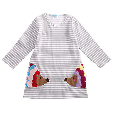 Stylish-Kids-Children-Girls-Clothes-Dresses-Birthday-Gifts-Party-Long-Sleeved-Shirt-A-line-Striped-Cotton-Dress-2-3-4-5-6-7-Year-5
