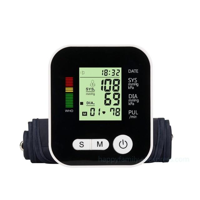 Цифровой предплечье Приборы для измерения артериального давления импульса Мониторы S тонометр Портативный Здравоохранение BP Приборы для измерения артериального давления Мониторы метров сфигмоманометр